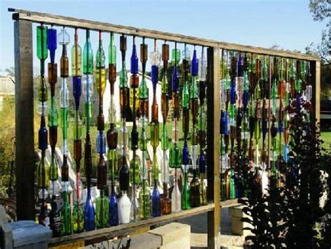 Home Decor Using Recycled Materials How To Build A Bottle Privacy Screen Diy Projects For