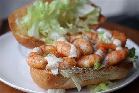 Bacon Main Dishes - cajun shrimp po boy