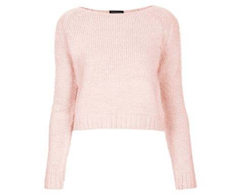 Baby Jumper Pink pink fluffy jumper topshop sweater jacket