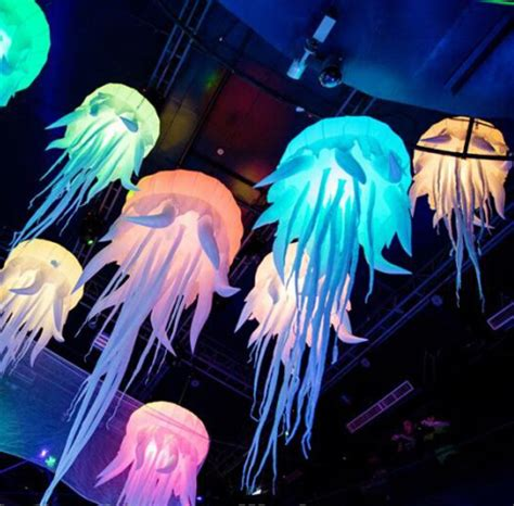Sea Decorations For Home beatiful party decoration jellyfish night lighting hanging