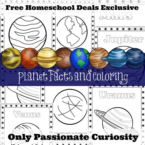 Instant 3in1 Trivia 26 free planet facts and coloring pages instant free homeschool deals