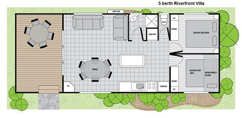 2 bedroom villa floor plans 2 bedroom riverfront villa renmark holiday park 187 big4