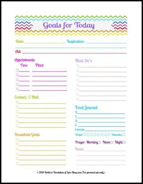 28 Images Of Daily Goal Sheet Template Leseriail Com Daily Goals Template