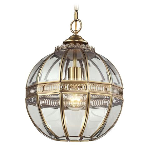 brass globe pendant light elk lighting randolph brushed brass pendant light with