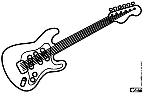 pin electric guitar colouring pages on pinterest