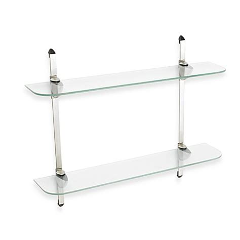 decorative glass shelves bathroom john sterling two tier decorative glass shelf kit bed
