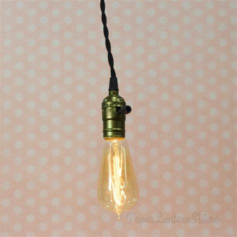Pendant Light With Cord Single Copper Socket Pendant Light L Cord Kit W Dimmer 11ft Ul Approved Black Cloth On