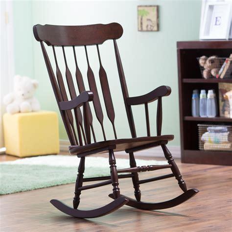 Nursery Rocking Chair by Belham Living Wood Nursery Rocker Espresso Indoor