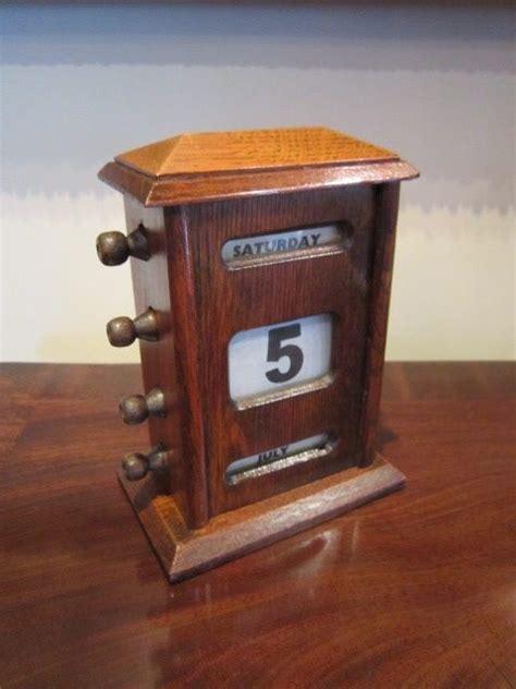 antique perpetual desk calendar edwardian oak perpetual desk calendar 288029