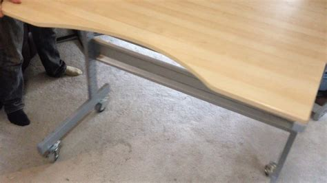 an ikea jerker standing desk now with casters