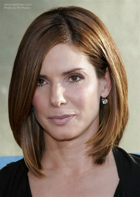 textured ends sandra bullock sporting a timeless classic hairdo trendy