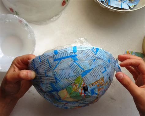 How To Make A Bowl Out Of Paper Mache - vintage paper bowl 183 how to make a paper bowl 183 papercraft