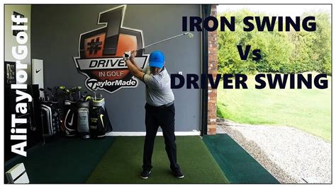 iron vs driver swing iron vs driver golf swing youtube