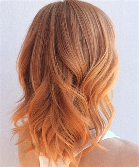 strawberry hairstyles stunning strawberry medium ombre hairstyles 2017