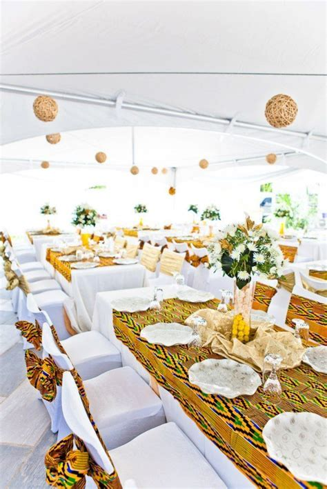 KENTE FABRIC DECOR ? AFRICAN WEDDING INSPIRATION BY JANDEL
