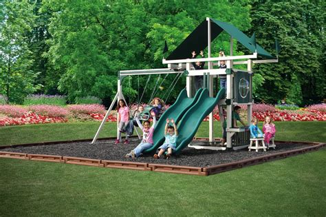 free swing sets kc 7 deluxe maintenance free swing set delivered and