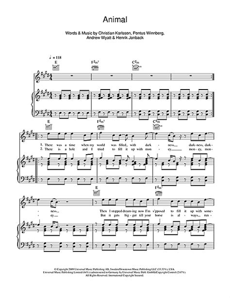 Miike Snow - Animal sheet music