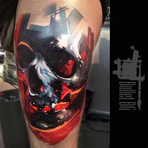 colorful skull tattoo designs colored skull best design ideas