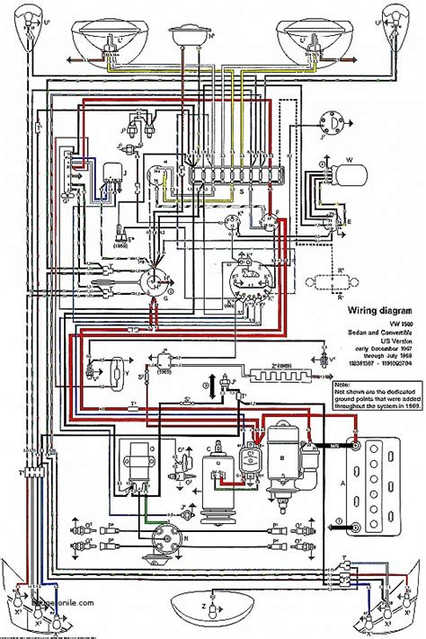 1968 vw bug wiring diagram wiring diagram schemes