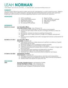 Resume Builder Reviews by Loss Prevention Officer Resume Examples Law Enforcement