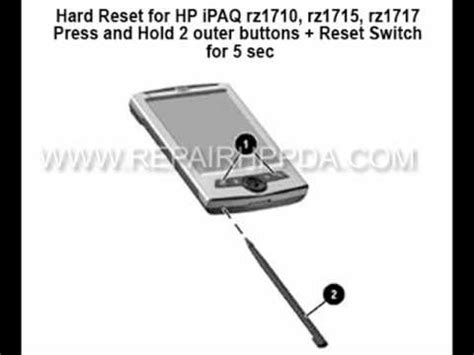 hard reset hp deskjet d2460 how to soft hard reset for hp ipaq rz1710 rz1715 rz1717