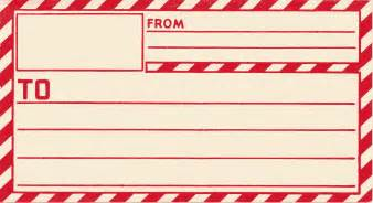 Package Address Label Template by Vintage Clip Gummed Parcel Post Label The