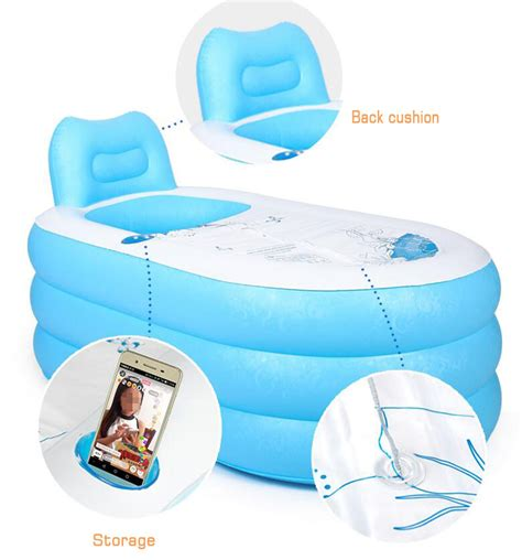 foldable bathtub for adults adult pvc folding portable bathtub inflatable bath tub air