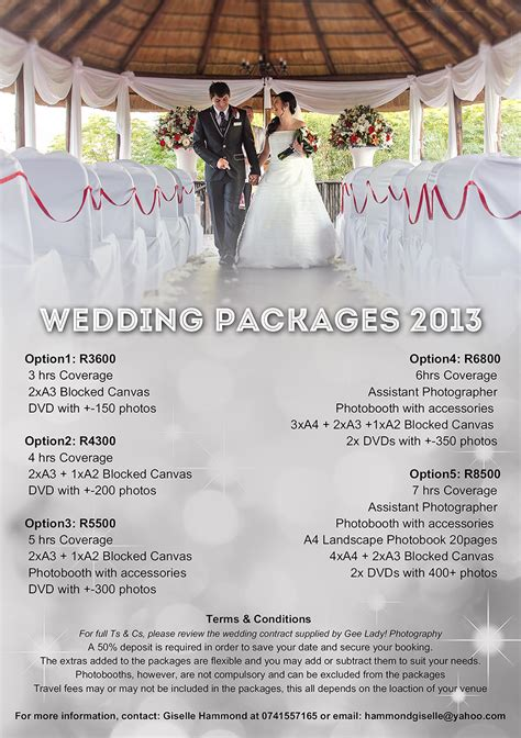 Wedding Package by Wedding Packages Gee Photography