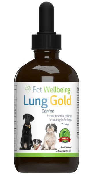 lung gold  dog lung infections  easy breathing