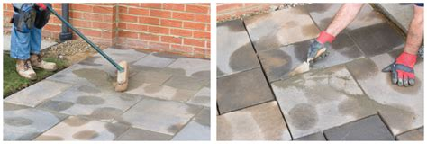 Filling Gaps Between Patio Slabs by How To Install Paving Slabs Clearance Paving