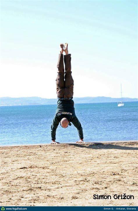 boat pose to handstand handstand yoga pose asana image by simongrižon
