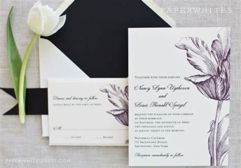 tulip wedding invitations april showers may flowers wedding stationery for your
