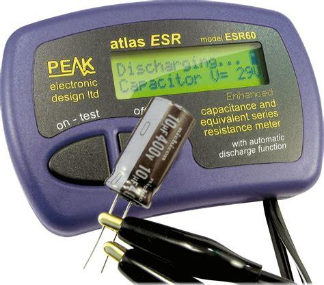 electrolytic capacitor tester atlas esr60 only 91 46 electrolytic capacitor esr tester atlas esr60 at reichelt elektronik