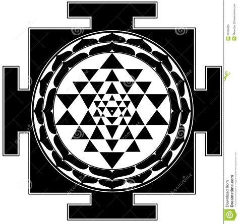shree yantra stock illustration illustration of religion