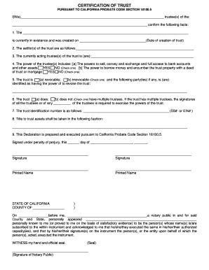 california probate code section 18100 5 create a living trust online free forms and templates