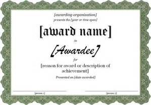 Free Templates For Awards by Template For Award Certificate Certificate Templates