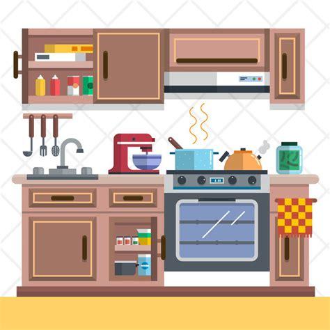 imagenes de kitchen en ingles cozy kitchen design cartoon vector background kitchenware