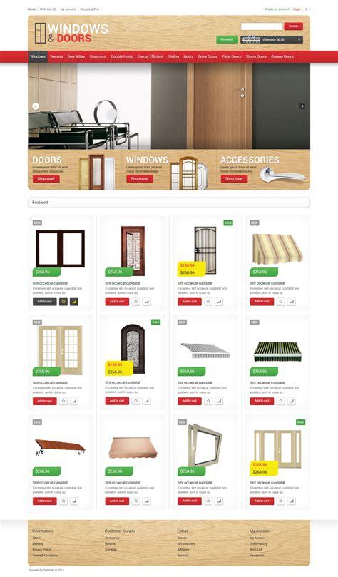 Garage Door Website Template by Windows Doors Store Opencart Template 48919