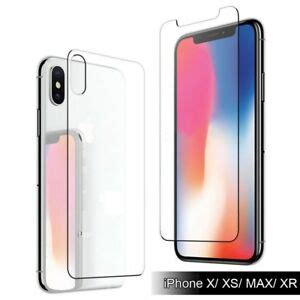 9h for iphone xs max xr xs front back tempered glass screen protector ebay