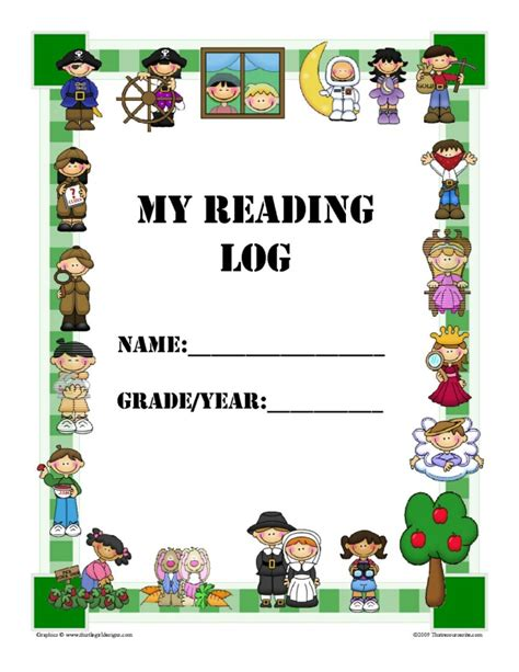 printable reading log cover page help inspire reading with our reading log that resource site