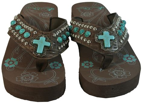 montana west sandals new montana west bling flip flops turquoise cross wedge