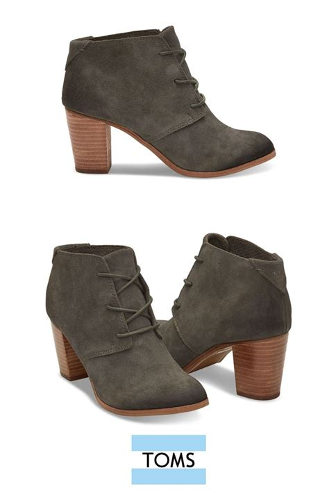 high heeled toms these toms lace up lunata booties are the of ankle