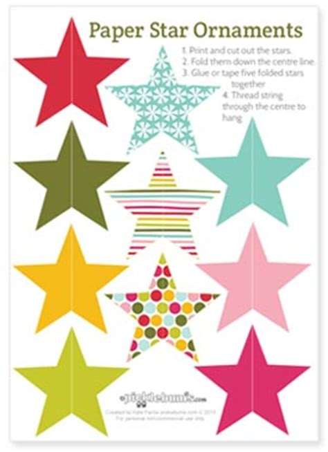 printable paper decorations 2013 christmas printables star and circle paper
