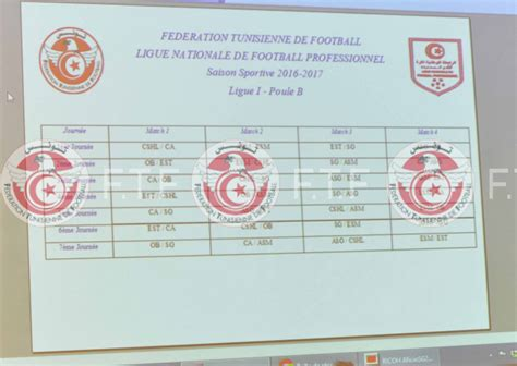 Calendrier Ligue 1 Tunisie 2014 C 233 R 233 Monie Tirage Au Sort Calendrier De La Ligue I Saison