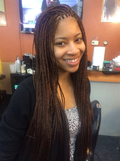 pic of african hair braids all singles of all types small single braids yelp