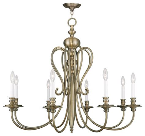 Traditional Chandeliers Caldwell Chandelier Antique Brass Traditional