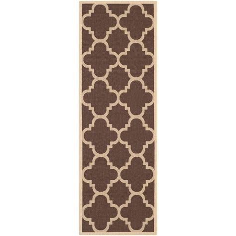 rug runners 2 x 14 safavieh courtyard brown 2 ft 4 in x 14 ft indoor outdoor runner cy6243 204 214 the