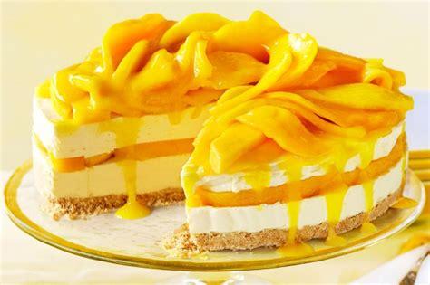 Mango Cheesecake mango recipes collection www taste au