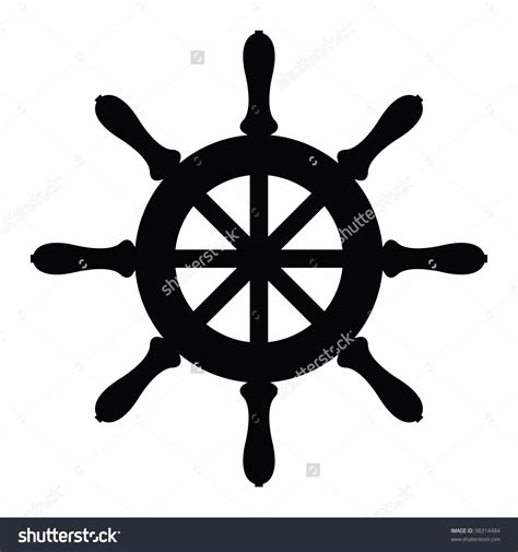 boat wheel outline steering sailboat clipart explore pictures