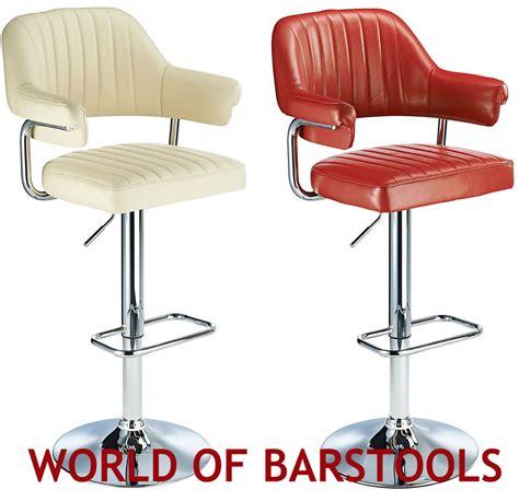 Retro Bar Stools Uk by Retro 1950 S Style Aviator Bar Stool In Five Colours Ebay